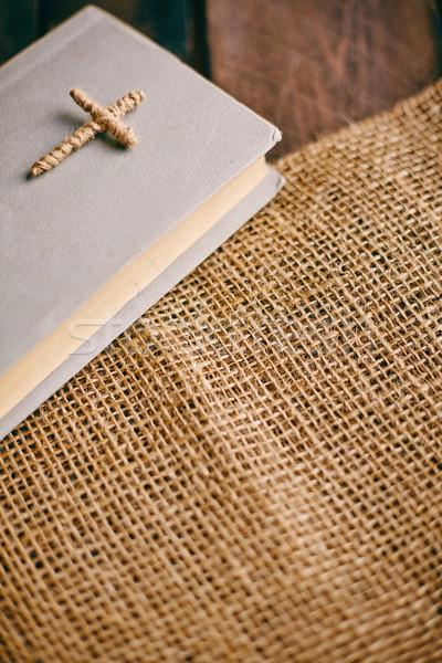 Scrittura immagine Pasqua libro Gesù Foto d'archivio © pressmaster