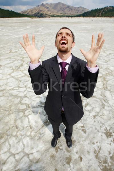 Uomo deserto foto indifeso imprenditore piedi Foto d'archivio © pressmaster