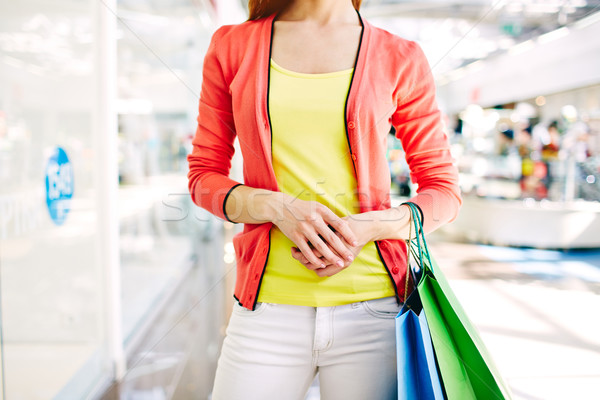 Shopper with paperbags Stock photo © pressmaster