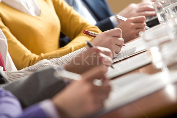 ír összefoglalás közelkép emberek üzlet munka Stock fotó © pressmaster