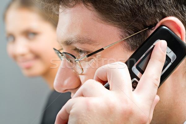 Important telephone call Stock photo © pressmaster