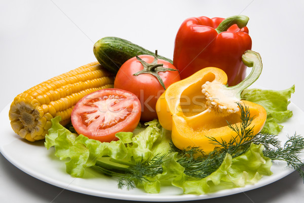 Vegetables on the plate  Stock photo © pressmaster