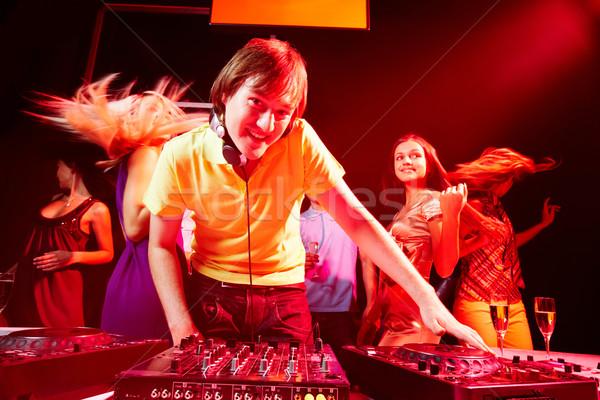Werken club portret knap deejay naar Stockfoto © pressmaster