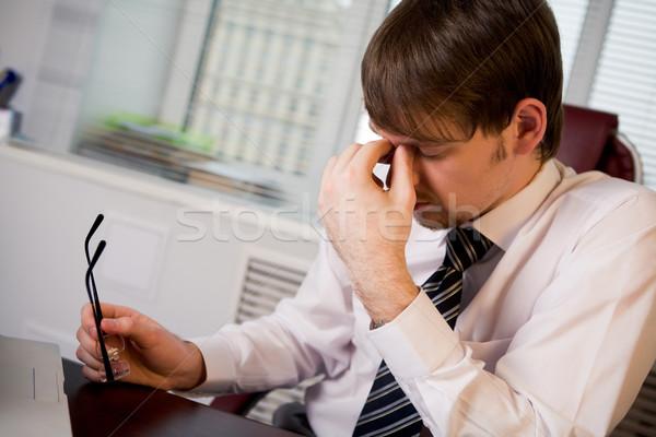 усталость фото человека очки Сток-фото © pressmaster