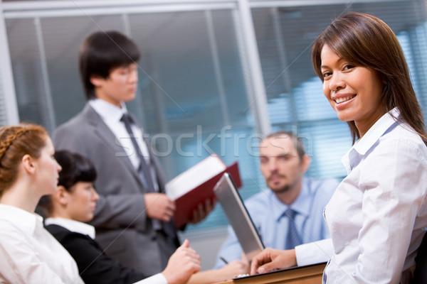 Bastante empleador retrato inteligentes mirando cámara Foto stock © pressmaster