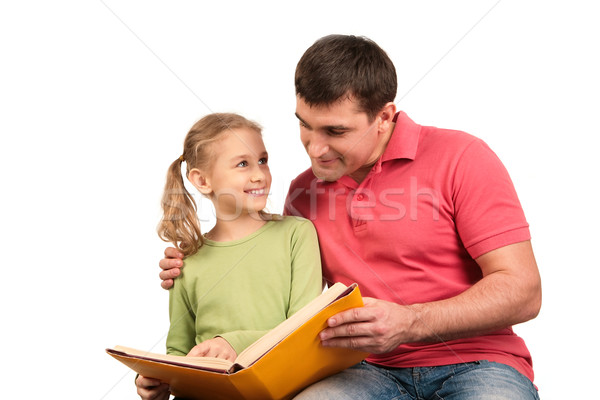 Reading book Stock photo © pressmaster