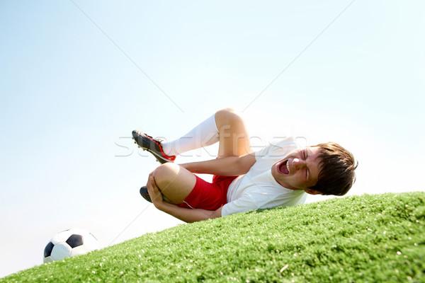 Сток-фото: более · изображение · футболист · трава