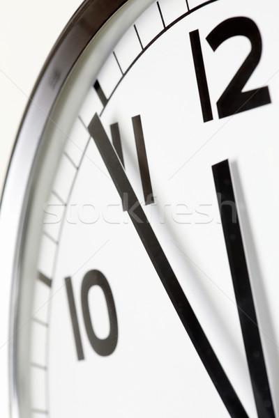 Pięć protokół obiad Fotografia zegar Zdjęcia stock © pressmaster