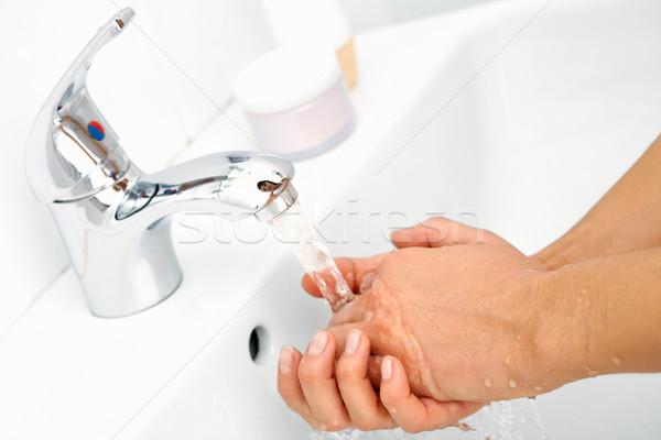 Stock foto: Hygiene · menschlichen · Hände · Stream