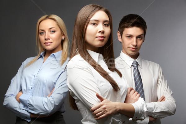 определенный команда портрет три глядя Сток-фото © pressmaster