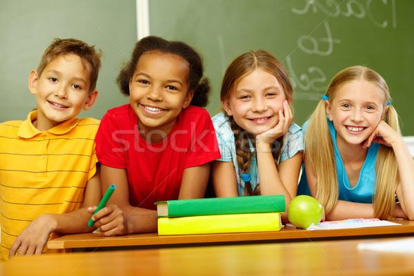 дружественный портрет Cute школьников глядя камеры Сток-фото © pressmaster
