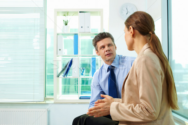 Affaires conversation équipe courant Photo stock © pressmaster