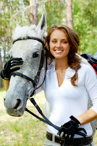 Girl and horse Stock photo © pressmaster