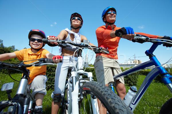 Ciclismo equipe família verão dia Foto stock © pressmaster