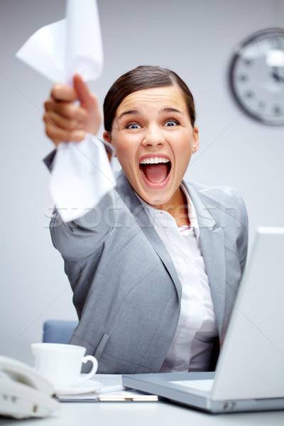 триумф изображение счастливым деловая женщина Сток-фото © pressmaster