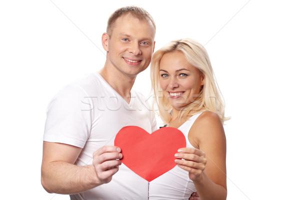 Zärtlich Liebe Porträt glücklich Paar Stock foto © pressmaster