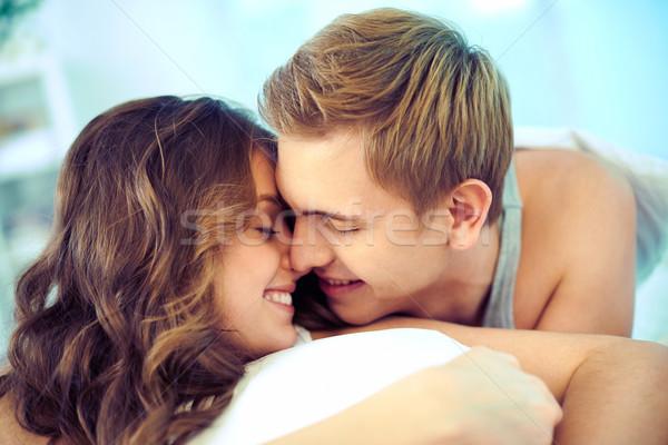 Szerelmi pár fiatal pér szeretet kifejez gyengédség Stock fotó © pressmaster