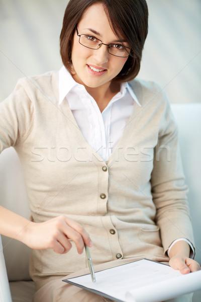 Pretty consultant Stock photo © pressmaster