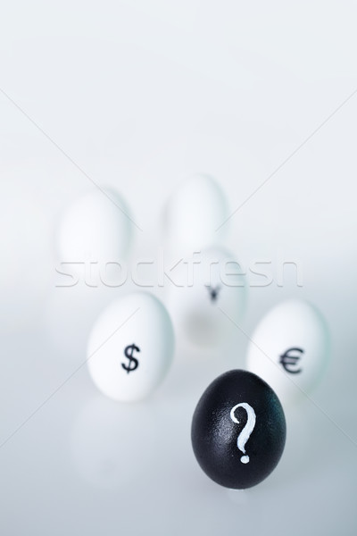 Ismeretlen vezető kép fekete tojás kérdőjel Stock fotó © pressmaster