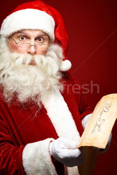 Buitengewoon portret kerstman christmas brief Stockfoto © pressmaster
