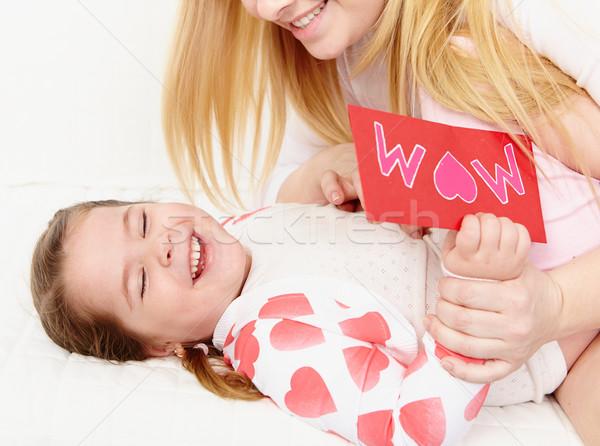 Moederlijk liefde liefhebbend moeder spelen mooie Stockfoto © pressmaster