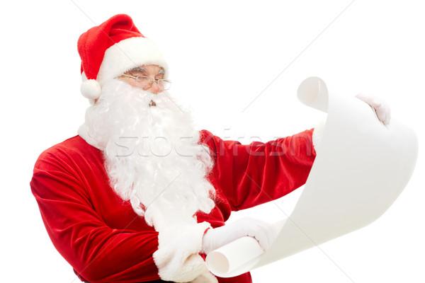 Reading Santa Stock photo © pressmaster