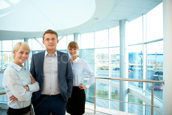 Zdjęcia stock: Udany · zespół · firmy · portret · smart · ludzi · biznesu · stałego