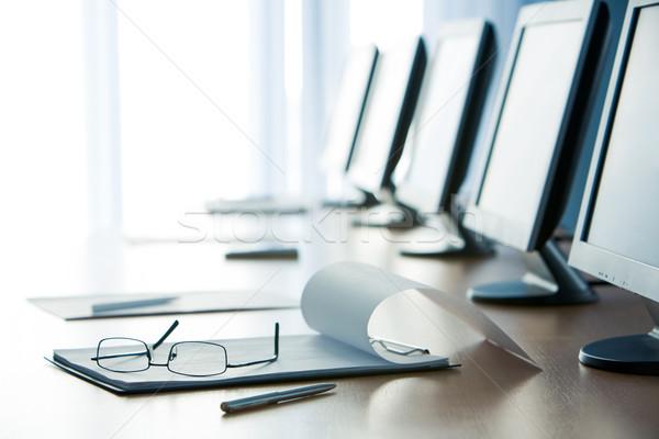 Conferenza lavoro open notepad pen Foto d'archivio © pressmaster