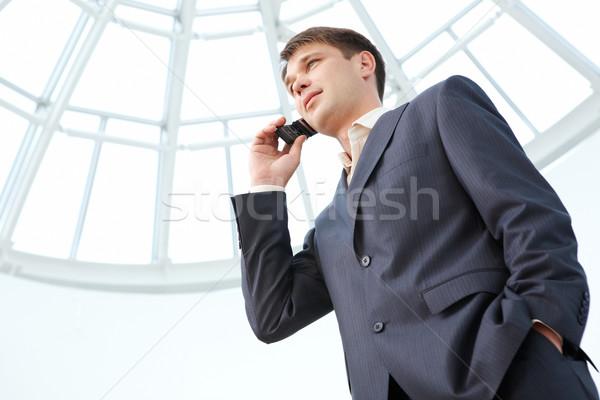Foto stock: Empresário · retrato · móvel · escritório · negócio