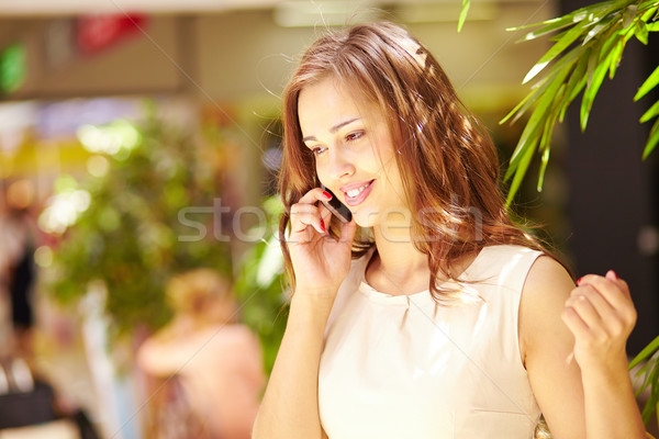 Stock photo: Girl calling