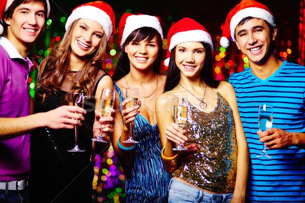 Рождества друзей группа радостный Сток-фото © pressmaster