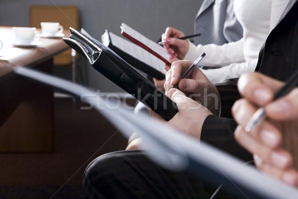 Details rij handen vulling vorm business Stockfoto © pressmaster