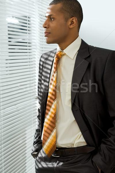 Nadenkend baas ernstig zakenman permanente naar Stockfoto © pressmaster