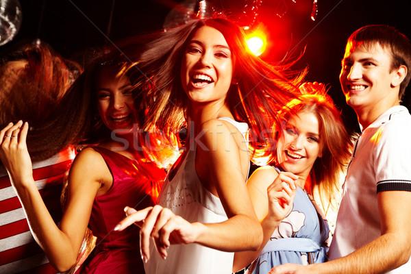 Stock fotó: Energikus · tinédzser · csinos · klubber · tánc · barátok