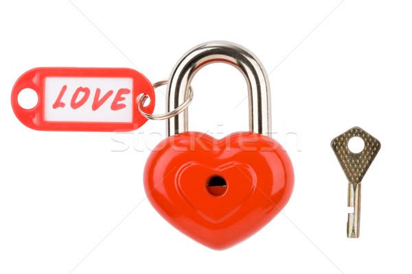 Foto stock: Bloqueo · imagen · metálico · corazón · amor · etiqueta