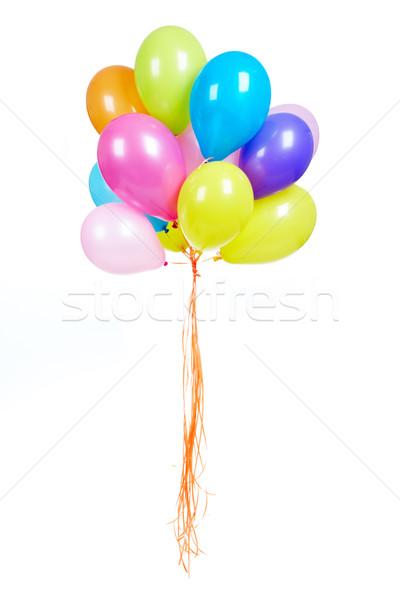 Kleurrijk ballonnen afbeelding isolatie witte ontwerp Stockfoto © pressmaster