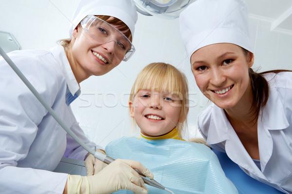 Diş hekimleri ofis grup dişçi asistan küçük kız Stok fotoğraf © pressmaster
