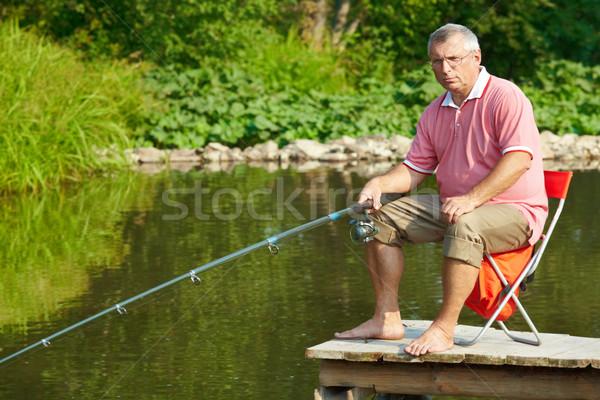 Altos pescador foto hombre pesca fin de semana Foto stock © pressmaster