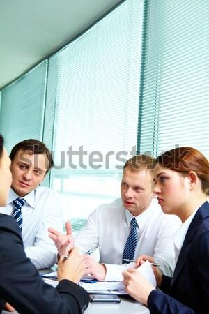 Interacting partners Stock photo © pressmaster