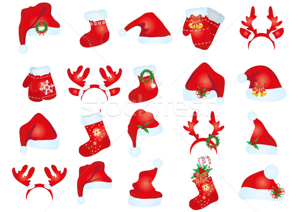 santa claus hats  Stock photo © pressmaster