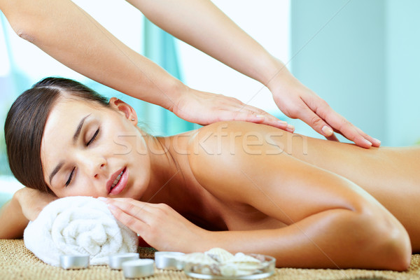 Stock photo: Spinal massage
