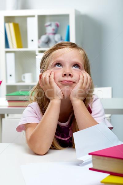 Pensive kid Stock photo © pressmaster