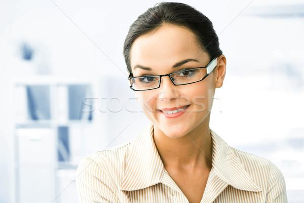Astucieux visage de femme femme d'affaires bureau affaires sourire Photo stock © pressmaster