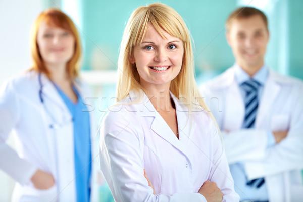 успешный практикующий врач портрет довольно белый пальто Сток-фото © pressmaster