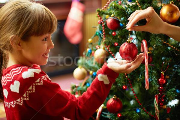 Decorating firtree Stock photo © pressmaster