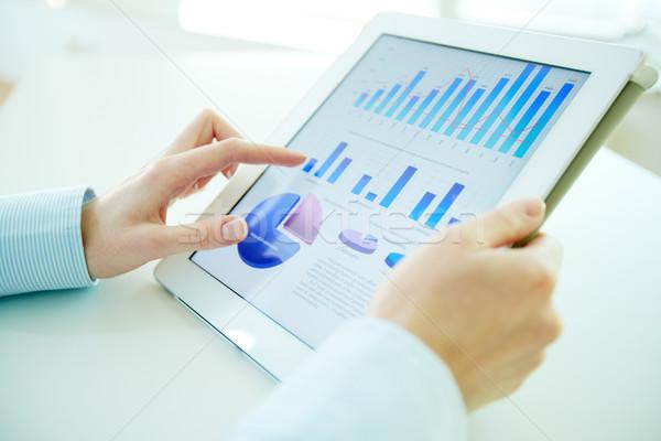 цифровой статистика финансовых таблетка экране Сток-фото © pressmaster