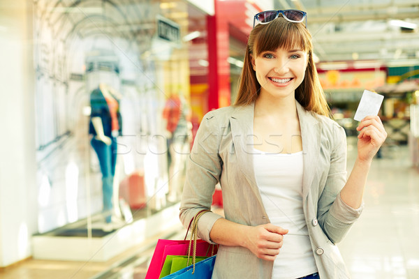 Shopper with credit card Stock photo © pressmaster