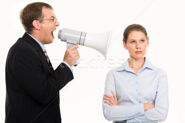 безразличие портрет сердиться Boss секретарь Сток-фото © pressmaster