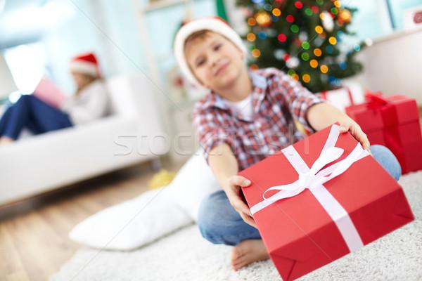 Stock photo: Christmas present