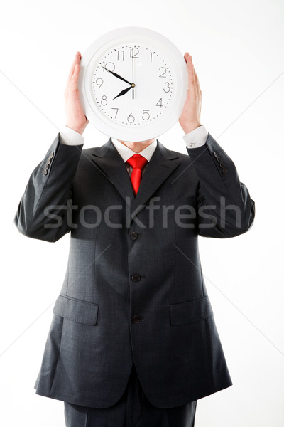 Man with clock Stock photo © pressmaster